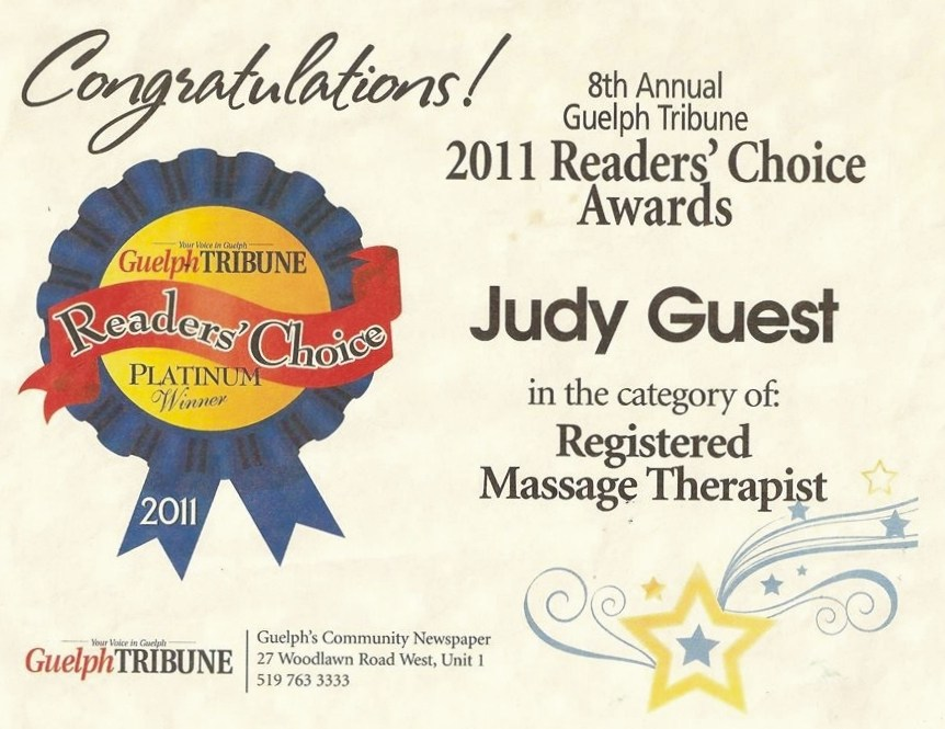 Guelph Tribune Readers Choice Award